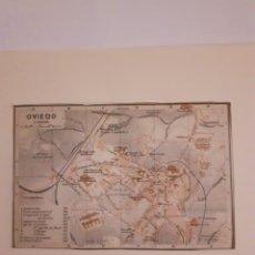 Mapas contemporáneos: MAPA PLANO ANTIGUO OVIEDO ASTURIAS 1908. Lote 211422626