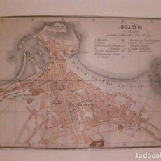 Mapas contemporáneos: MAPA ANTIGUO 1908 GIJÓN ASTURIAS .. Lote 211423212