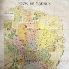 Mapas contemporáneos: PLANO DE MADRID. NOMENCLATOR. LUCIANO DELAGE VILLEGAS. A. MARTIN. J SOLER Gº. VER FOTOS. Lote 211863431