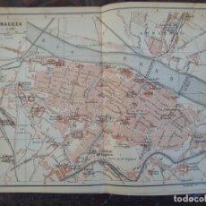 Mapas contemporáneos: DETALLADO MAPA PLANO ORIGINAL ANTIGUO 1908 DE ZARAGOZA RIO EBRO ARAGÓN. Lote 211874943