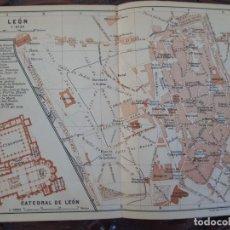 Mapas contemporáneos: DETALLADO MAPA PLANO ORIGINAL ANTIGUO 1908 DE LEÓN CATEDRAL. Lote 211876672