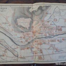 Mapas contemporáneos: DETALLADO MAPA PLANO ORIGINAL ANTIGUO 1908 DE BURGOS RIO ARLANZOR MONASTERIO DE LAS HUELGAS. Lote 211880538