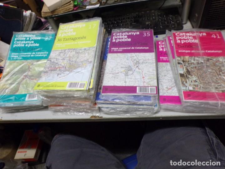 LOTE 40 MAPAS CATALUNYA POBLE A POBLE. CON EMBALAJE ORIGINAL (Coleccionismo - Mapas - Mapas actuales (desde siglo XIX))