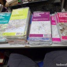 Mapas contemporáneos: LOTE 40 MAPAS CATALUNYA POBLE A POBLE. CON EMBALAJE ORIGINAL. Lote 211889748