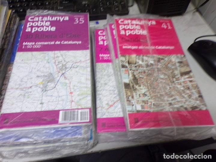 Mapas contemporáneos: LOTE 40 MAPAS CATALUNYA POBLE A POBLE. CON EMBALAJE ORIGINAL - Foto 2 - 211889748
