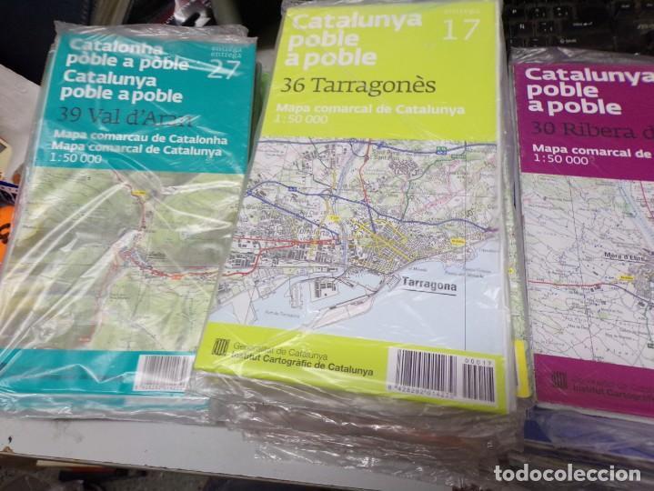 Mapas contemporáneos: LOTE 40 MAPAS CATALUNYA POBLE A POBLE. CON EMBALAJE ORIGINAL - Foto 3 - 211889748