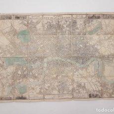 Mapas contemporáneos: MAP OF LONDON, (MAPA DE LONDRES), PAPEL EN TELA 1859. Lote 211890022