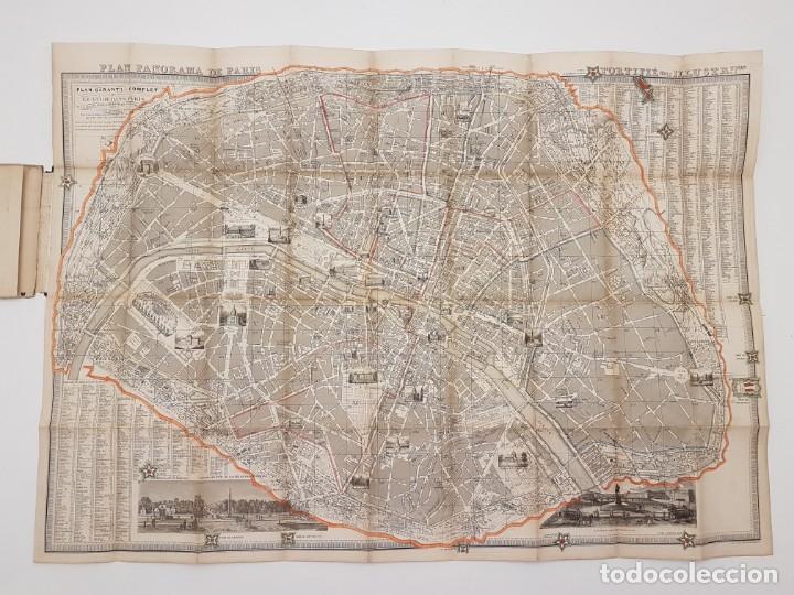 MAPA DE PARÍS 1855, PAPEL SOBRE TELA (Coleccionismo - Mapas - Mapas actuales (desde siglo XIX))