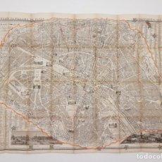 Mapas contemporáneos: MAPA DE PARÍS 1855, PAPEL SOBRE TELA. Lote 211890370