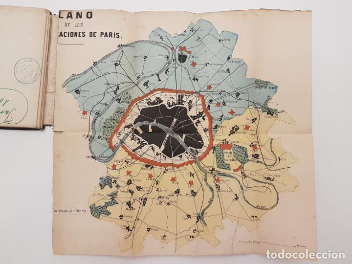 Mapas contemporáneos: MAPA DE PARÍS 1855, PAPEL SOBRE TELA - Foto 2 - 211890370