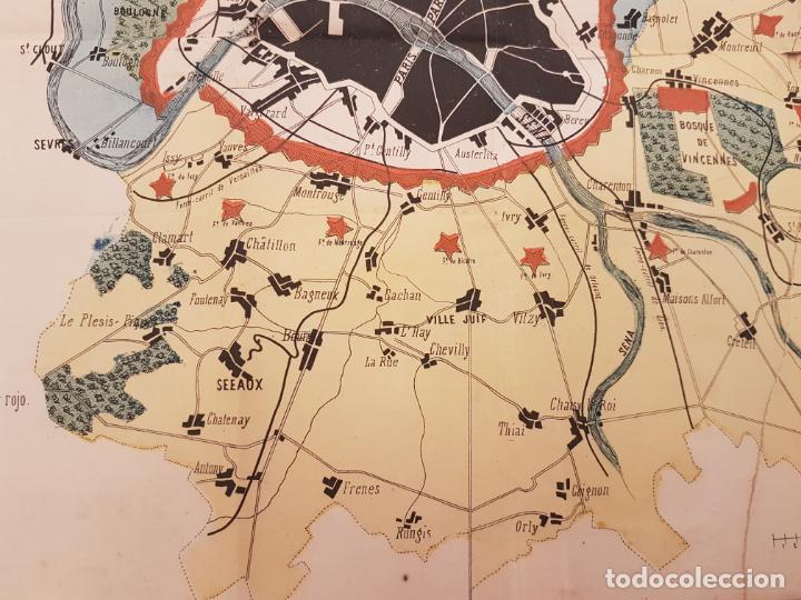 Mapas contemporáneos: MAPA DE PARÍS 1855, PAPEL SOBRE TELA - Foto 4 - 211890370