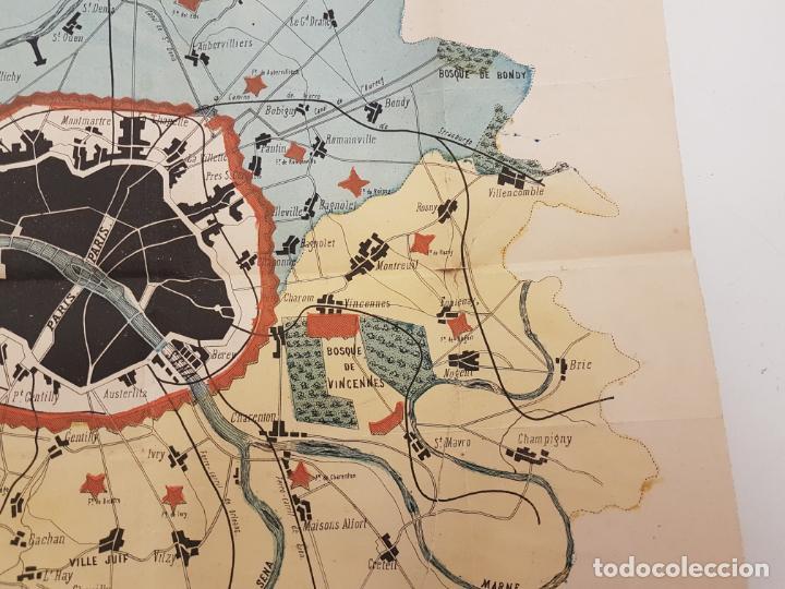 Mapas contemporáneos: MAPA DE PARÍS 1855, PAPEL SOBRE TELA - Foto 5 - 211890370
