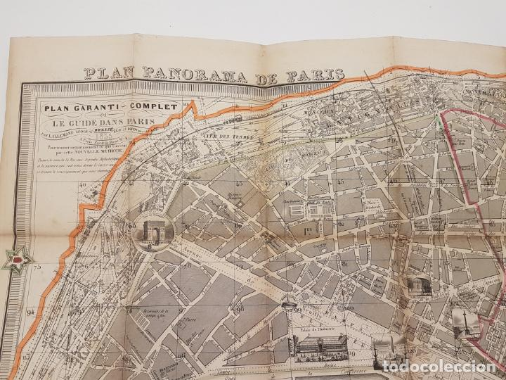 Mapas contemporáneos: MAPA DE PARÍS 1855, PAPEL SOBRE TELA - Foto 7 - 211890370