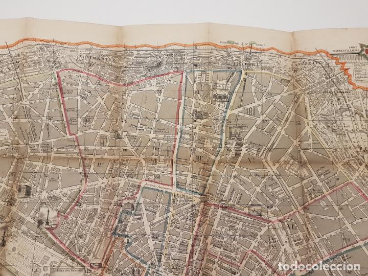 Mapas contemporáneos: MAPA DE PARÍS 1855, PAPEL SOBRE TELA - Foto 8 - 211890370