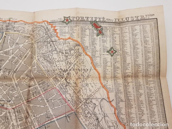 Mapas contemporáneos: MAPA DE PARÍS 1855, PAPEL SOBRE TELA - Foto 9 - 211890370