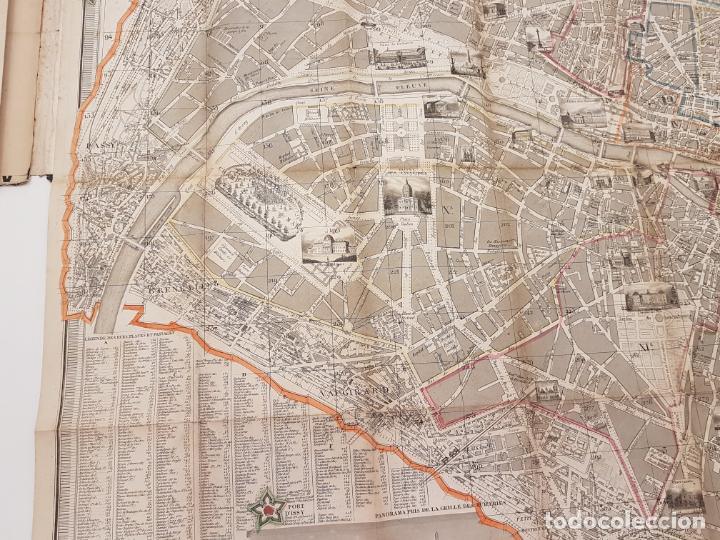Mapas contemporáneos: MAPA DE PARÍS 1855, PAPEL SOBRE TELA - Foto 12 - 211890370