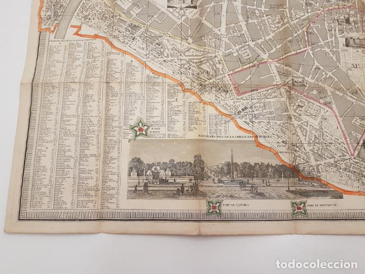 Mapas contemporáneos: MAPA DE PARÍS 1855, PAPEL SOBRE TELA - Foto 13 - 211890370