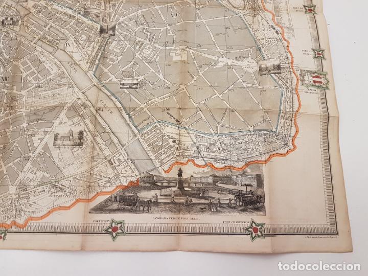 Mapas contemporáneos: MAPA DE PARÍS 1855, PAPEL SOBRE TELA - Foto 15 - 211890370