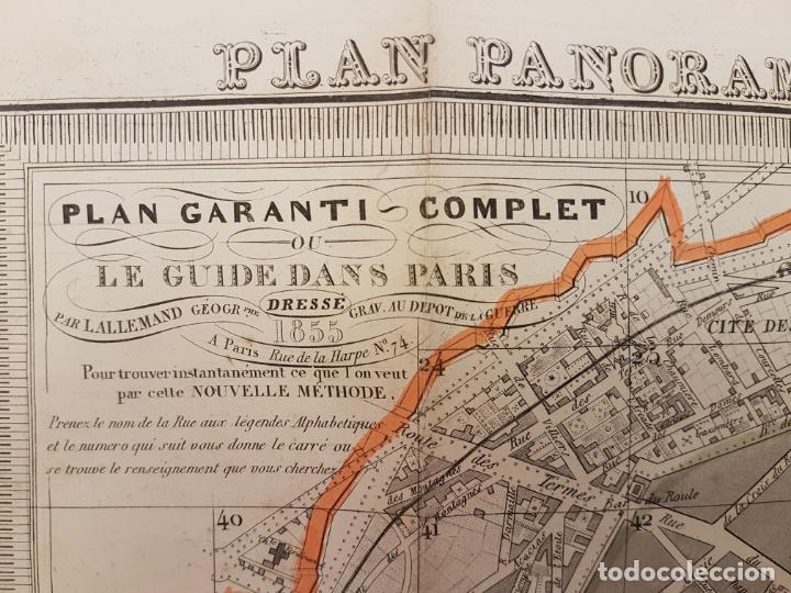 Mapas contemporáneos: MAPA DE PARÍS 1855, PAPEL SOBRE TELA - Foto 16 - 211890370