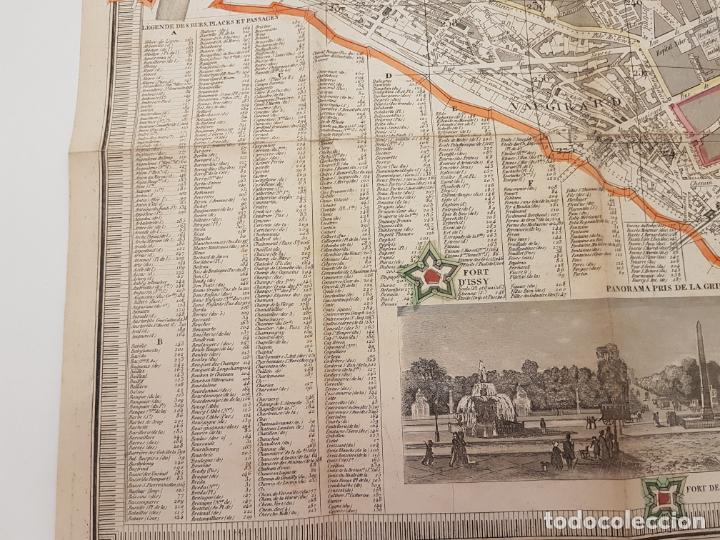 Mapas contemporáneos: MAPA DE PARÍS 1855, PAPEL SOBRE TELA - Foto 17 - 211890370