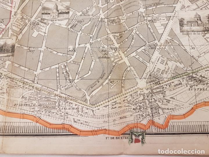 Mapas contemporáneos: MAPA DE PARÍS 1855, PAPEL SOBRE TELA - Foto 18 - 211890370