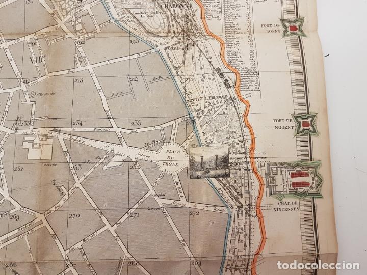 Mapas contemporáneos: MAPA DE PARÍS 1855, PAPEL SOBRE TELA - Foto 20 - 211890370