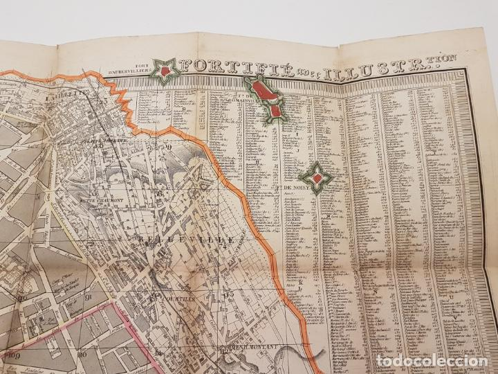 Mapas contemporáneos: MAPA DE PARÍS 1855, PAPEL SOBRE TELA - Foto 21 - 211890370