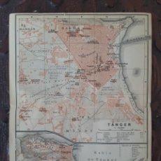 Mapas contemporáneos: DETALLADOS MAPAS ANTIGUOS 1908 DE LA BAHÍA DE TÁNGER Y DE TÁNGER MARRUECOS.. Lote 211915428