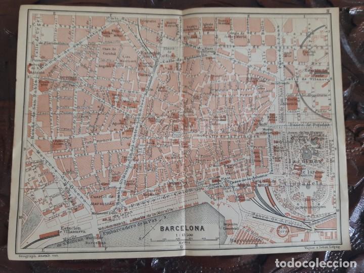 DETALLADO MAPA ANTIGUO 1908 DE BARCELONA (Coleccionismo - Mapas - Mapas actuales (desde siglo XIX))