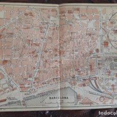 Mapas contemporáneos: DETALLADO MAPA ANTIGUO 1908 DE BARCELONA. Lote 211916422