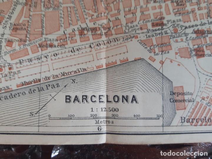 Mapas contemporáneos: Detallado Mapa antiguo 1908 de Barcelona - Foto 2 - 211916422
