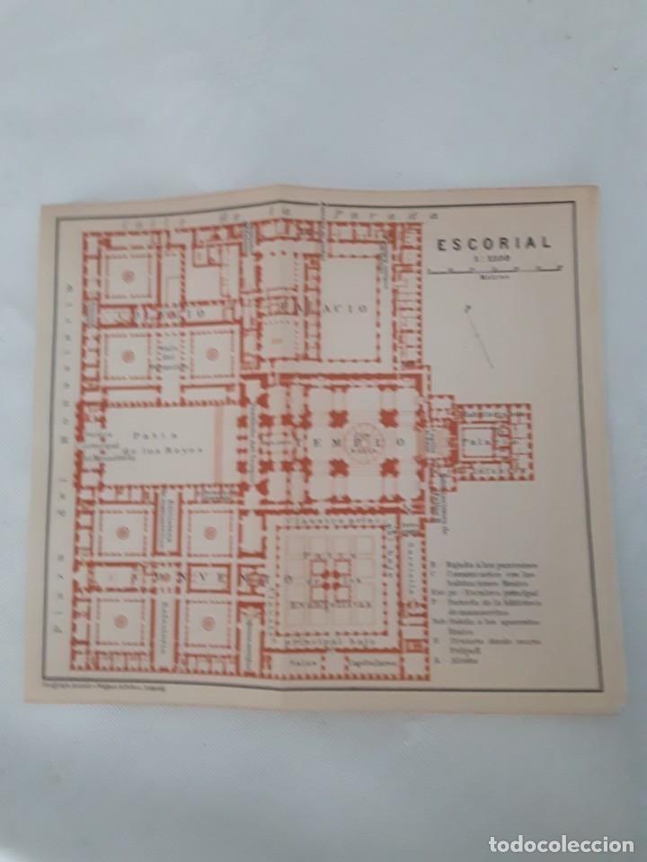 DETALLADO MAPA ANTIGUO 1908 DEL MONASTERIO DEL ESCORIAL (Coleccionismo - Mapas - Mapas actuales (desde siglo XIX))