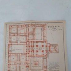 Mapas contemporáneos: DETALLADO MAPA ANTIGUO 1908 DEL MONASTERIO DEL ESCORIAL. Lote 211918775