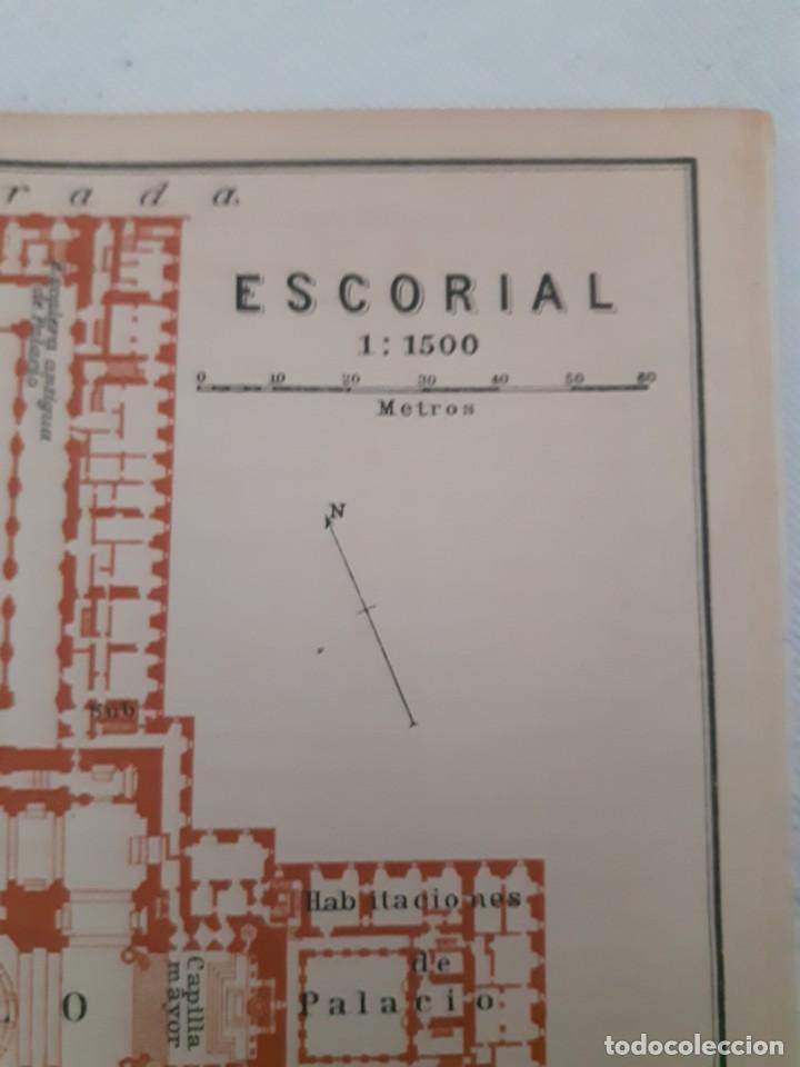 Mapas contemporáneos: Detallado Mapa antiguo 1908 del Monasterio del Escorial - Foto 2 - 211918775