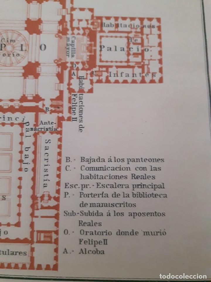 Mapas contemporáneos: Detallado Mapa antiguo 1908 del Monasterio del Escorial - Foto 3 - 211918775
