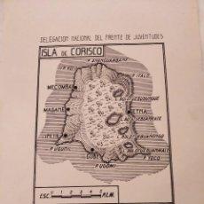 Mapas contemporáneos: MAPA ISLA DE CORISCO. GUINEA ESPAÑOLA. DELEGACIÓN NACIONAL DEL FRENTE DE JUVENTUDES. (AÑOS 50?). Lote 211935293