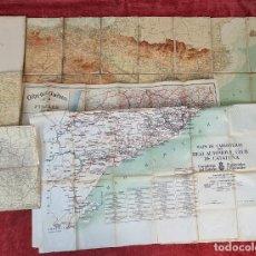 Mapas contemporáneos: COLECCIÓN DE 5 MAPAS EN PAPEL SOBRE TELA Y SEDA. ESPAÑA. SIGLO XX.. Lote 212050336