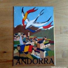 Mapas contemporáneos: MAPA DE ANDORRA, EDITORIAL LA POLIGRAFA - BARCELONA AÑOS 60/70. Lote 212168210