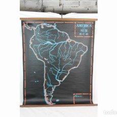 Mapas contemporáneos: ANTIGUO MAPA MUDO DE ESCUELA ---AMERICA DEL SUR --PARA ESCRIBIR CON TIZA--. Lote 212297045