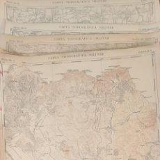 Mapas contemporáneos: COLECCION DE 21 MAPAS. CARTAS TOPOGRÁFICAS MILITARES. ESCALA 1: 20.000. CIRCA 1950. Lote 212325001