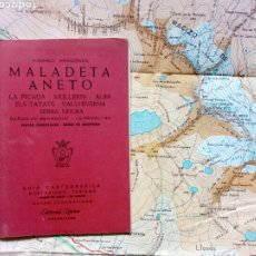 Mapas contemporáneos: GUÍA CARTOGRÁFICA + MAPA - MALADETA ANETO LA PICADA MULLERS (PIRINEO ARAGONÉS) (ED. ALPINA, 1988). Lote 212889726