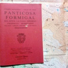 Mapas contemporáneos: GUÍA CARTOGRÁFICA + MAPA - PANTICOSA FORMIGAL BALAITUS LA FAXA (PIRINEO ARAGONÉS) (ED. ALPINA, 1988). Lote 212890196