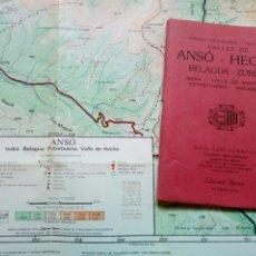 Mapas contemporáneos: GUÍA CARTOGRÁFICA + MAPA - ANSO HECHO BELAGUA ZURIZA (PIRINEO ARAGONÉS - NAVARRO) (ED. ALPINA, 1987). Lote 212891022