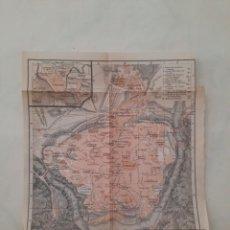 Mapas contemporáneos: ANTIGUO PLANO MAPA ORIGINAL TOLEDO 1908 EDICIÓN ALEMANA EN ESPAÑOL. Lote 212959490