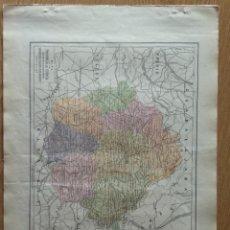 Mapas contemporáneos: MAPA PROV. CUENCA, PUB.BAYLLI-BALLIERE Y RIERA-SIGNOS CONCENCIONALES, HISTORIA ETC.. Lote 213105587