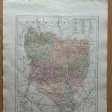 Mapas contemporáneos: MAPA PROV. HUESCA , PUB.BAYLLI-BALLIERE Y RIERA-SIGNOS CONCENCIONALES, HISTORIA ETC.. Lote 213106591