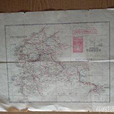 Mapas contemporáneos: MAPA PROVINCIA DE GERONA AÑO 1933 EDITOS VILARROYA - SIGNOS CONVENCIONALES. Lote 213112540