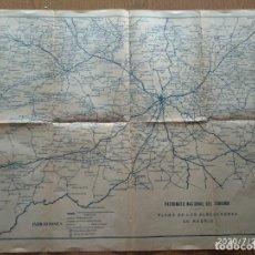 Mapas contemporáneos: MAPA PATRONATO NACIONAL DEL TURISMO - PLANO DE LOS ALREDEDORES DE MADRID - AVILA, SEGOVIA, TOLEDO,. Lote 213114056