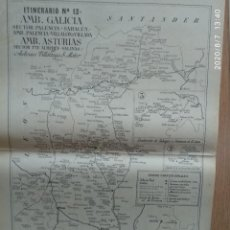 Mapas contemporáneos: MAPA DE CORREOS - ITINERARIO N. 13 - GALICIA, ASTURIAS, PALENCIA, SAHAGUN, ALMUHEY, SALINAS.. Lote 213880226