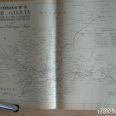 Mapas contemporáneos: MAPA DE CORREOS - ITINERARIO N. 19, GALICIA, SECTOR ASTORGA-QUEREÑO, PONFERRADA - VILLABLINO. Lote 213882337